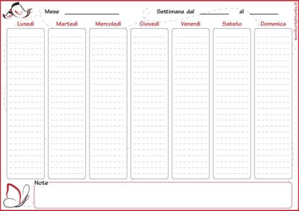 Planner settimanale da stampare gratis | Genitorialmente