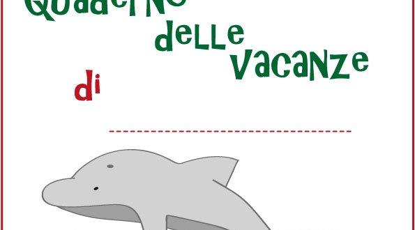 Copertina quaderno dei compiti delle vacanze estive | Genitorialmente