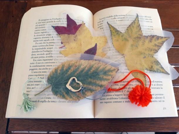 Segnalibro con foglie secche – decorazioni autunnali   Genitorialmente