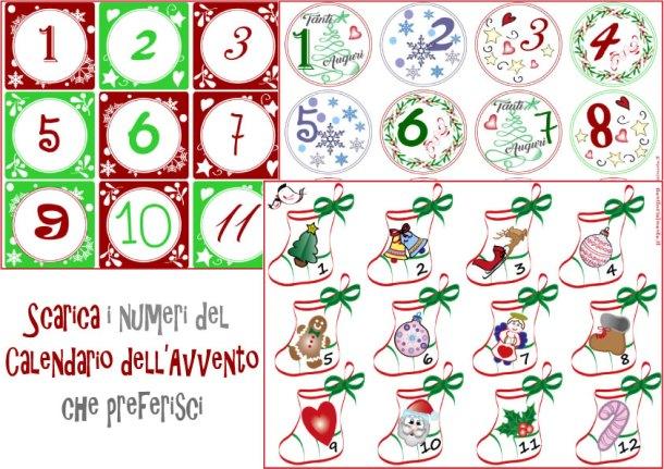 Numeri del calendario dell'Avvento da stampare | Genitorialmente