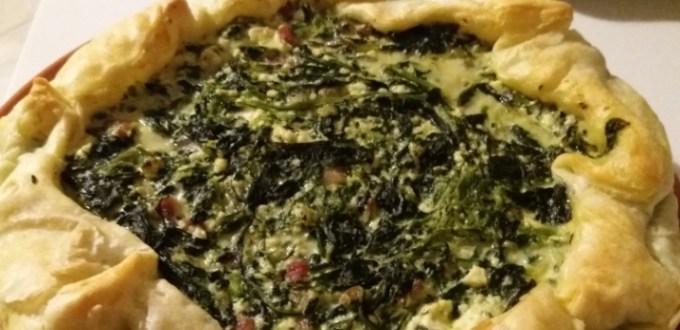 Torta salata ricotta erbette e pancetta | Genitorialmente