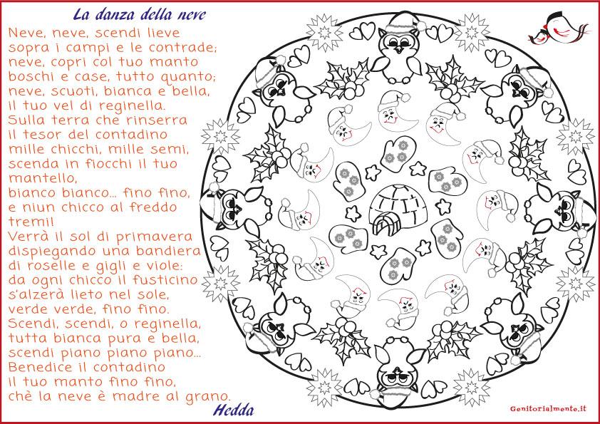 Mandala D Inverno Da Colorare E Poesia Per Bambini Genitorialmente