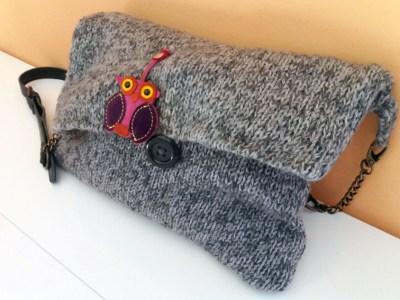 Riciclare un vecchio maglione: borsa invernale facile | Genitorialmente