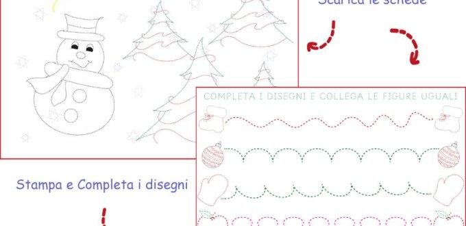 Schede di pregrafismo sull'inverno per l'infanzia | Genitorialmente