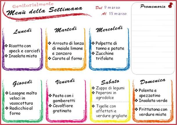 Come organizzare il menù settimanale - Meal planning | Genitorialmente