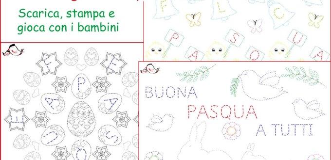 Disegni di pregrafismo di Pasqua da stampare | Genitorialmente