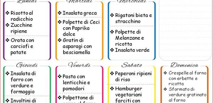 Come mangiare sano con gusto: menù settimanale | Genitorialmente