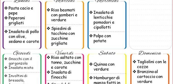Cosa cucinare in famiglia: menù settimanale da scaricare | Genitorialmente