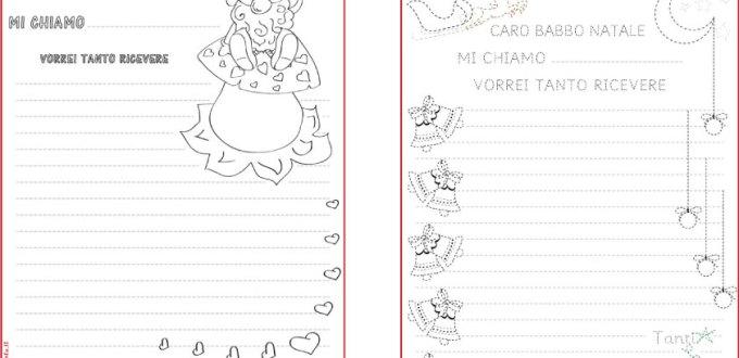 Letterina a Babbo Natale da colorare e pregrafismo | Genitorialmente