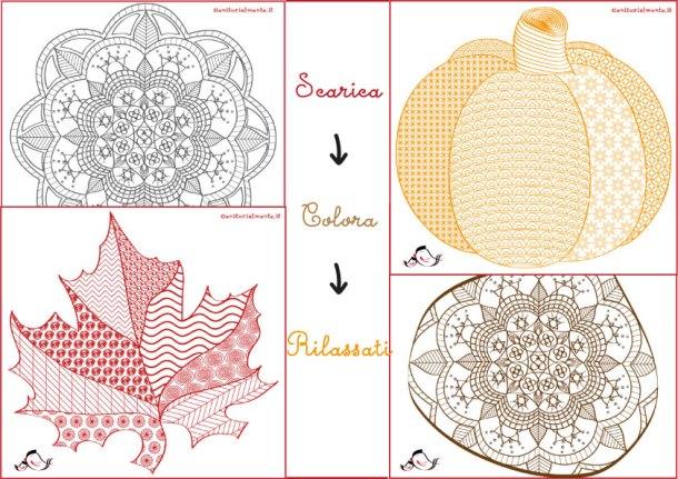 Mandala autunnali da colorare: scarica e stampa | Genitorialmente