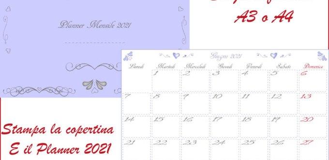 Planner mensile 2021 PDF da stampare gratis | Genitorialmente