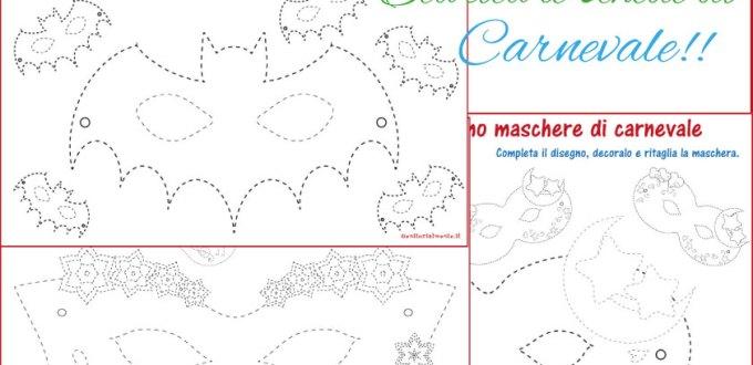 Pregrafismo maschere di carnevale da scaricare gratis | Genitorialmente