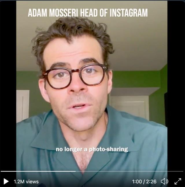 Adam Mosseri Head of Instagram