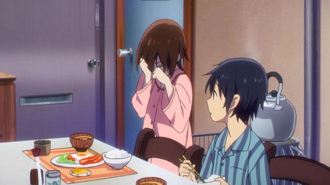 Uma das cenas mais comoventes de Erased envolve um singelo café da manhã.