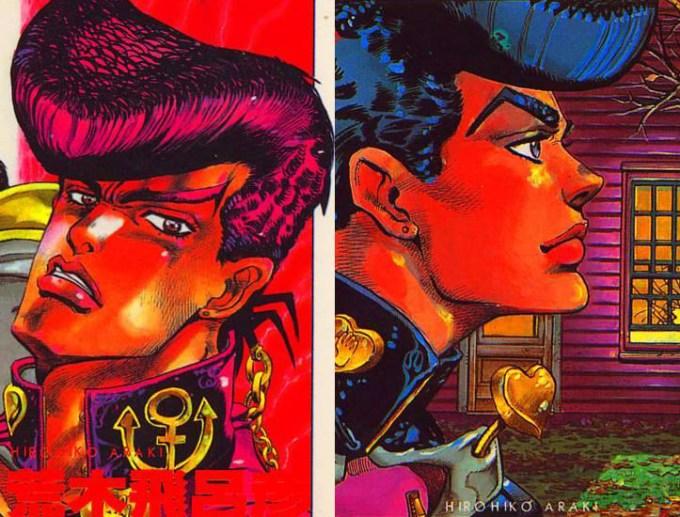 Traço do Araki sofreu uma forte modificação durante esta saga