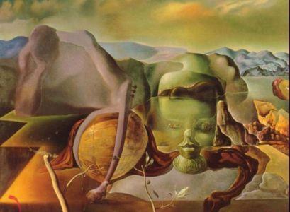 """Quadro Surrealista """"Enigma sem fim"""" de Salvador Dali."""
