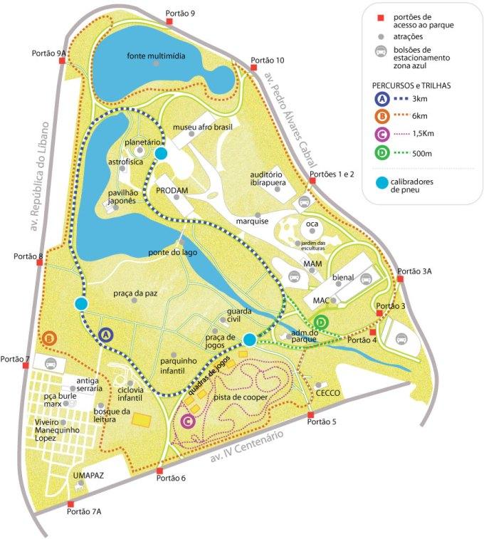 mapa ibirapuera