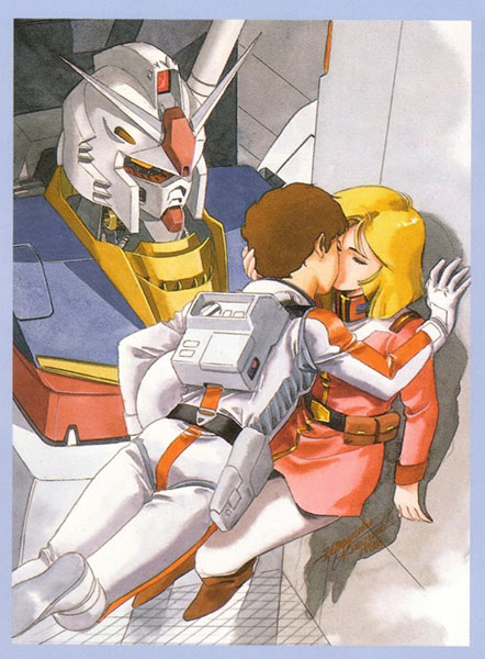 Sayla_and_Amuro_kiss