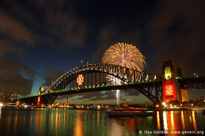 Midnight Fireworks Display Photos Sydney Harbour Sydney