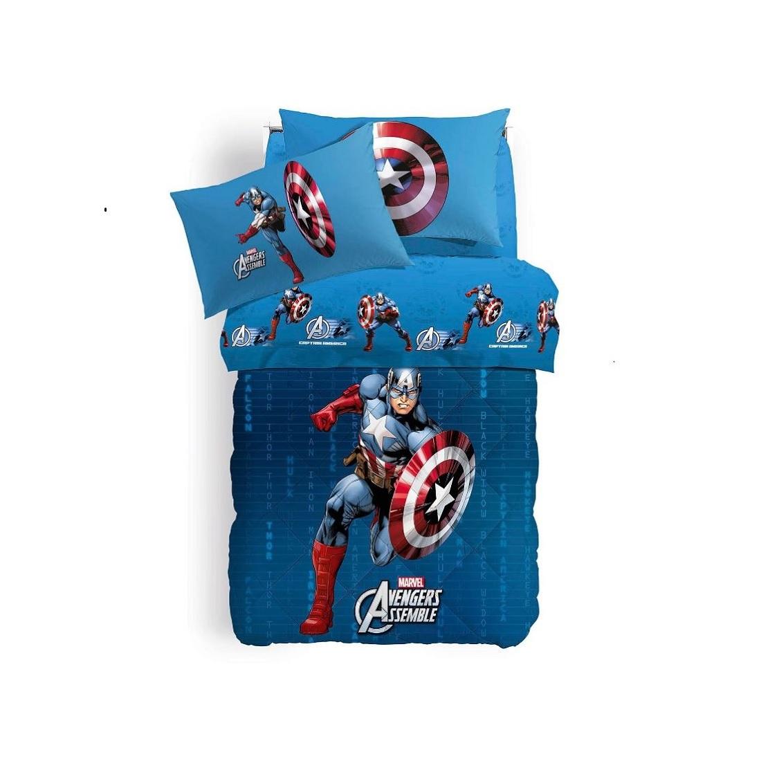 Questo sito usa cookie tecnici e cookie di terze parti per migliorare l'esperienza di navigazione ok leggi tutto Gbh 47080 Trapunte Singole Trapunta Avengers Caleffi Captain America Singola Esterno Cotone
