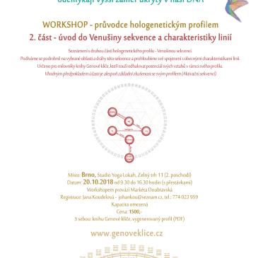 20.10.2018 workshop v Brně – úvod do Venušiny sekvence
