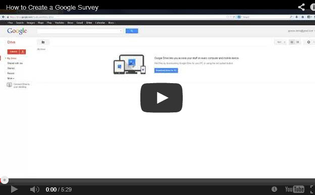 How to Create a Google Survey [Video]