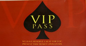Pacquiao Birthday Party VIP Pass