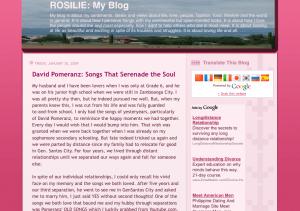Rosilie: My Blog