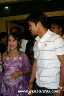 Dionisia and Manny Pacquiao