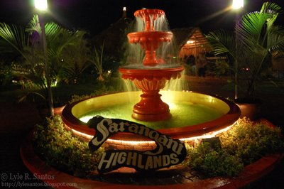 Sarangani Highlands Fountain (photo by Lyle Santos)