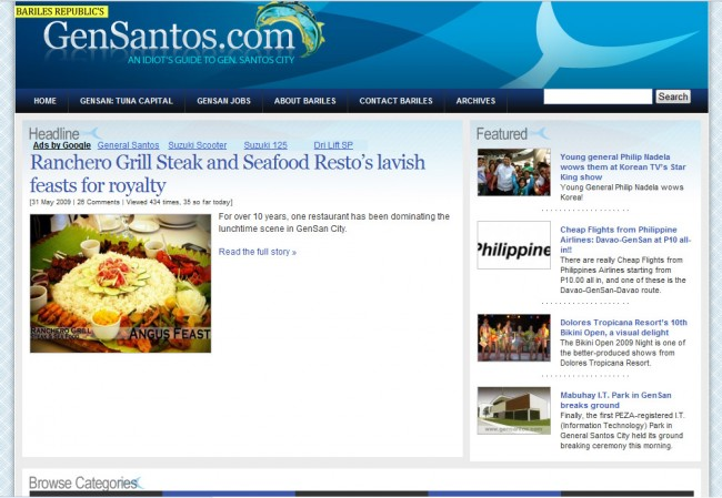 old GenSantos.com Screenshot