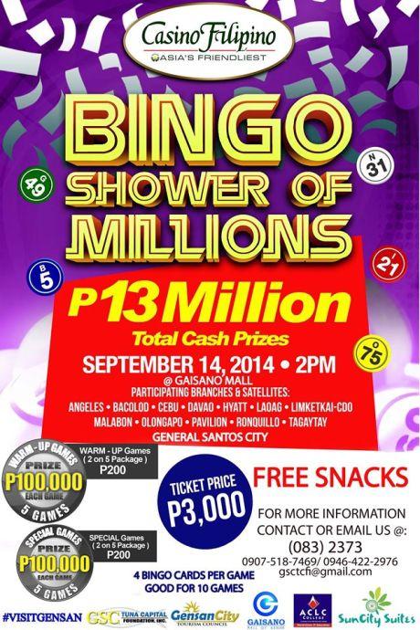 Bingo GenSan, Casino Filipino