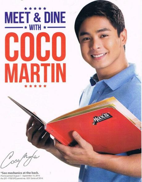 coco martin, max's restaurant