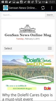 HOME PAGE OF THE GENSAN NEWS ONLINE MAG APP