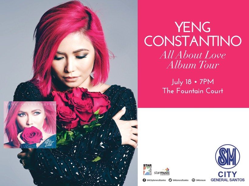 Yeng Constantino Album Tour, All About Love, SM City Gensan