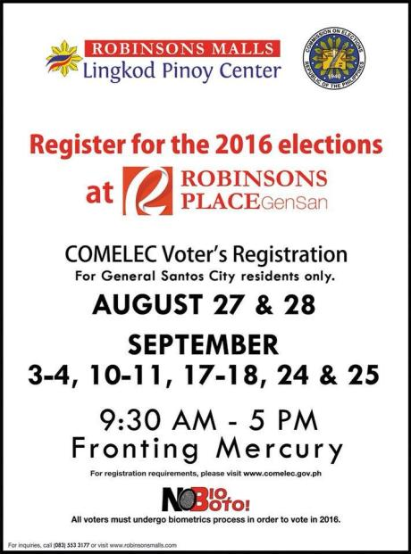 no bio, no boto, comelec registration