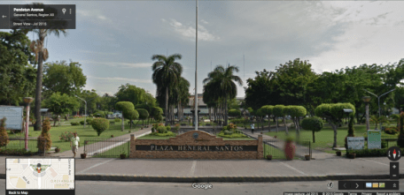 GOOGLE STREET VIEW, PLAZA HENERAL SANTOS