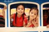 Children share a fun moment on the train ride at SM City Davao.