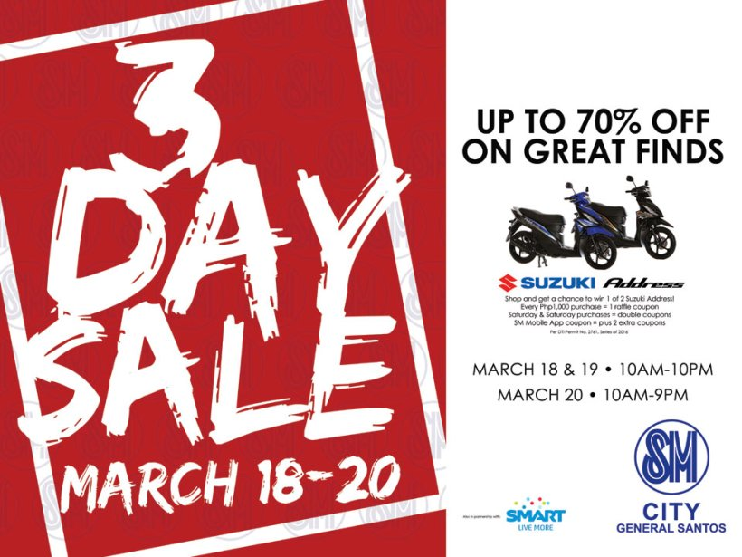 SM 3DAY SALE