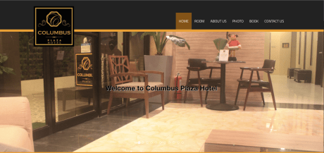 COLUMBUS PLAZA HOTEL WEBSITE SCREENSHOT