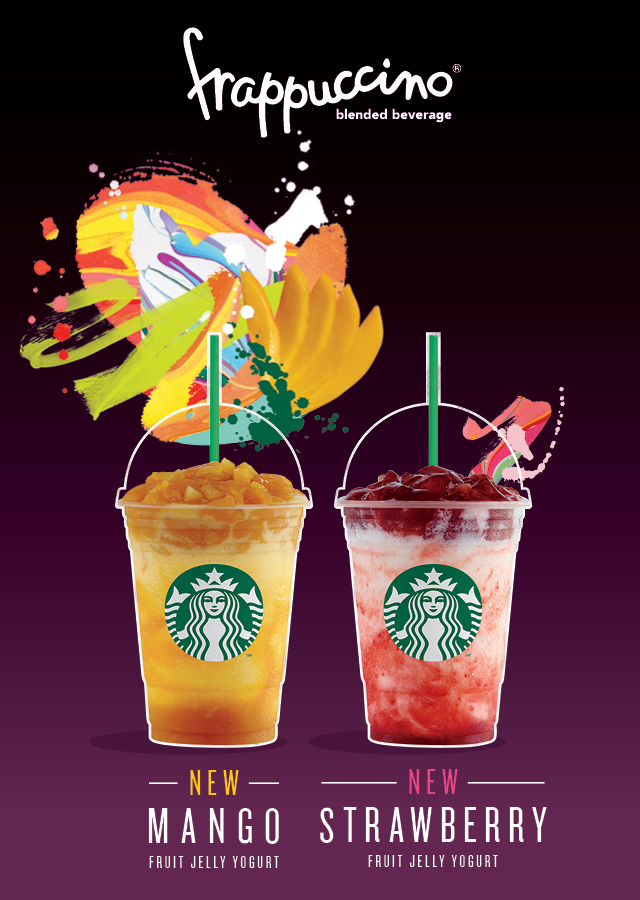 starbucks strawbery and mango fruit jelly yoghurt