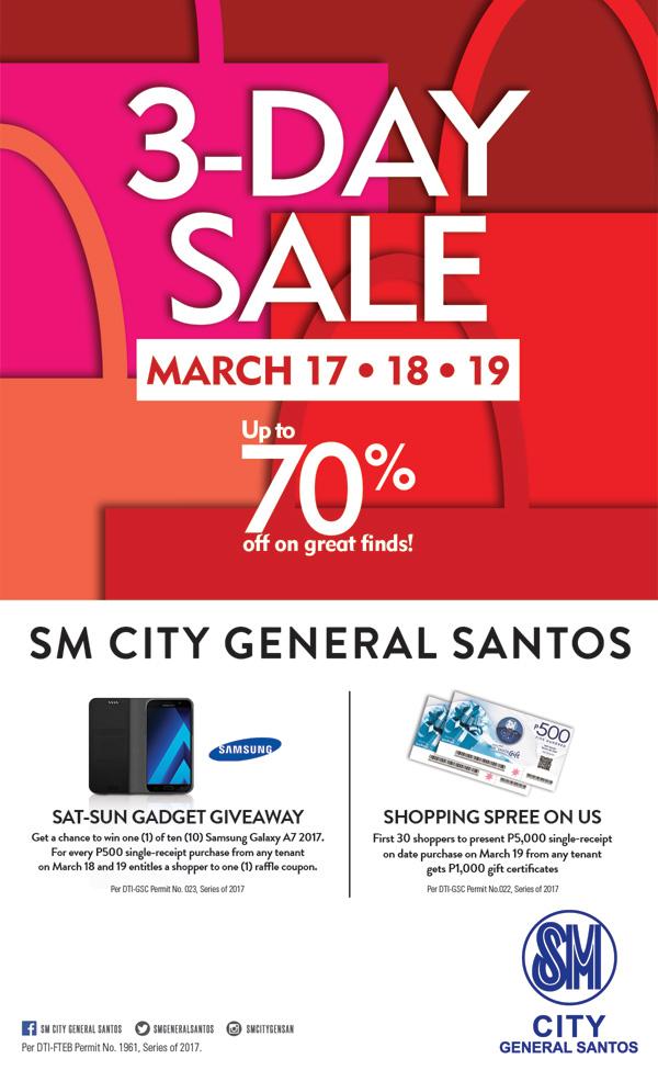 SM CITY GENSAN 3-DAY SALE