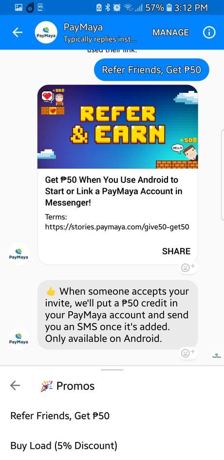 PayMaya Refer A Friend