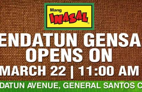 Mang Inasal – Pendatun Gensan to Offer Piso Chicken Meal Coupons on Opening Day