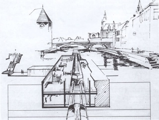 metrostation Graslei