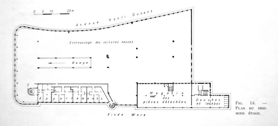 Plan eerste verdieping.