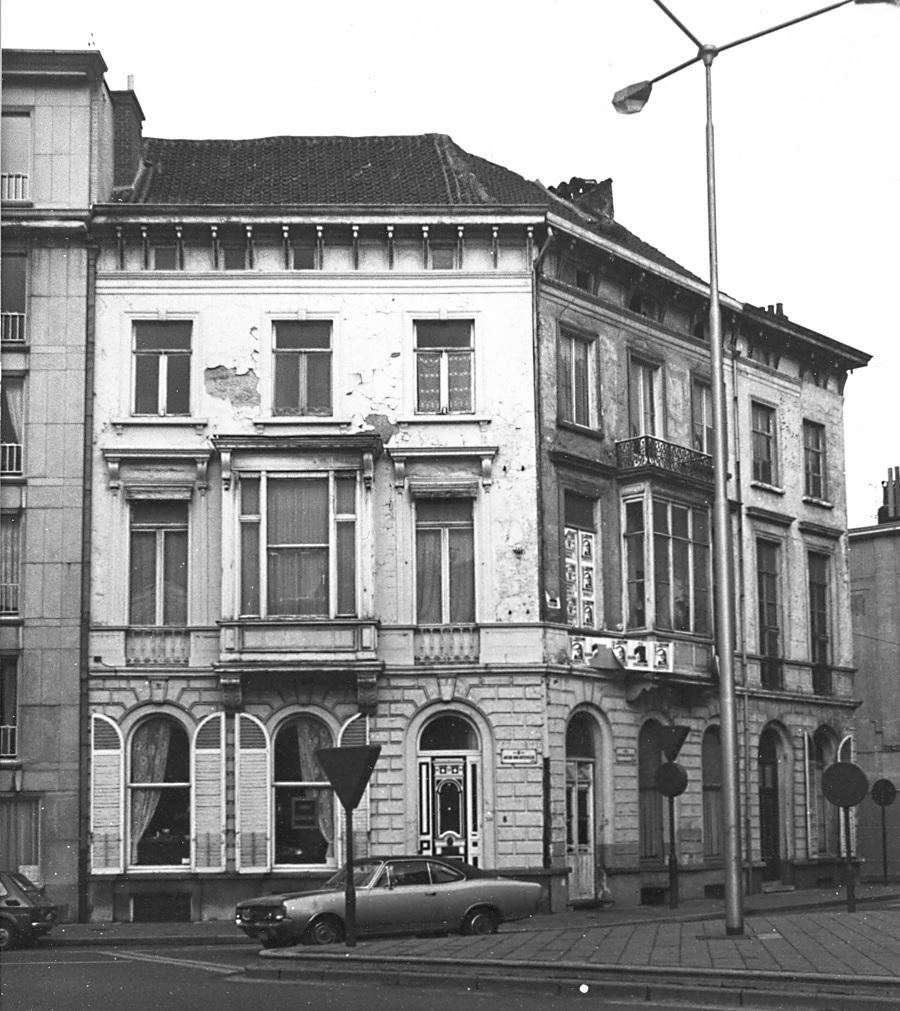Het bouwblok rond 1978.