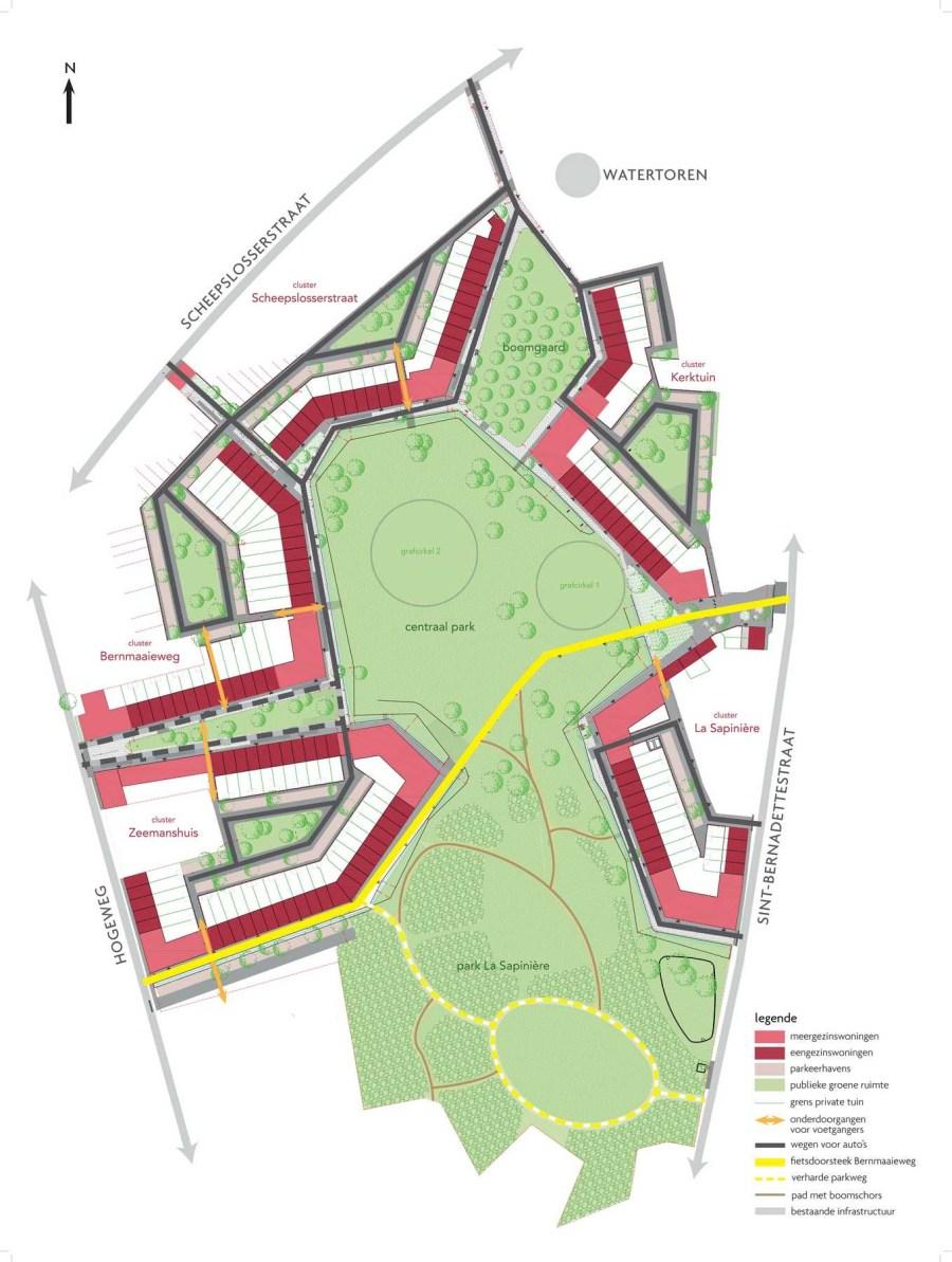 Overzichtsplan van het project Hogeweg.