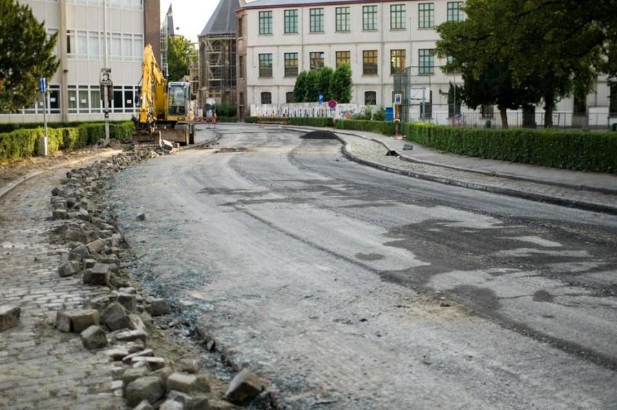 Opbreken bibliotheekstraat (via Gentblogt)