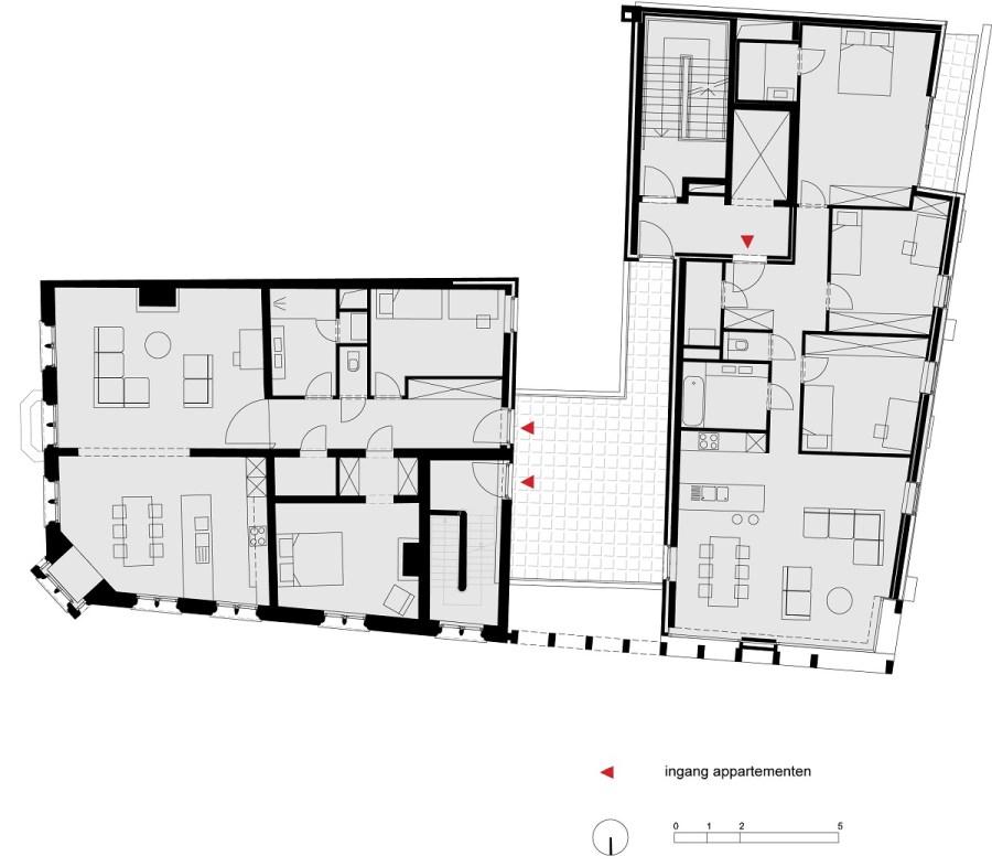 Abscis Architecten - Schuurkensstraat - grondplan niv3